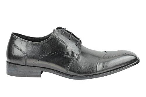 JACK & JONES - Zapatos de cordones para hombre Negro negro, color Negro, talla 40 UE