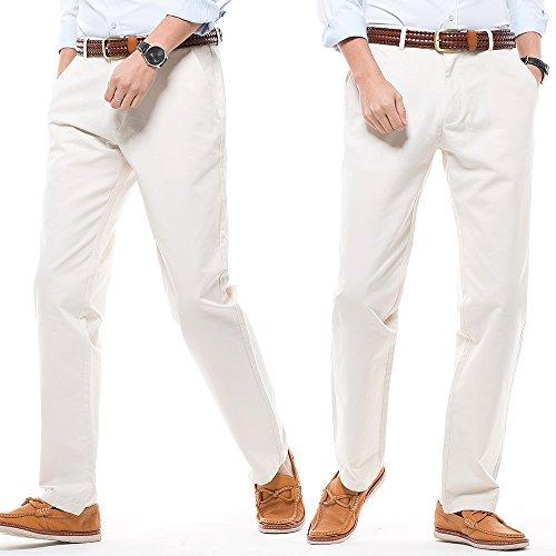 Recto Beige 16 de Perneras Pantalones Harrms Rectas de Hombre con Pantalones Liso Corte Casual Estilo Elegir Colores Hombre para qUXHHwp6