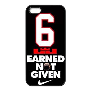 CTSLR NBA Player LeBron James Hard Skin for For SamSung Galaxy S6 Phone Case Cover - 1 Pack - Black/White - 3