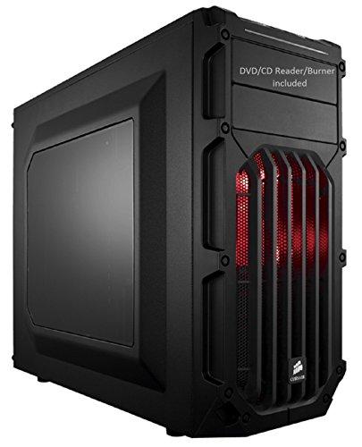 Fxware Spec-03 Custom Gaming Desktop PC (4.0GHz Quad Core CPU Socket AM4, 2TB HDD, 16GB RAM, WiFi), Red