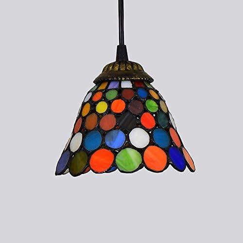OOFAY 15CM Creativo Tiffany Style Lampade A Sospensione in Vetro Colorato Retro Corridoio Corridoio Ristorante Bar Art Piccolo Lampadario 6 Pollici