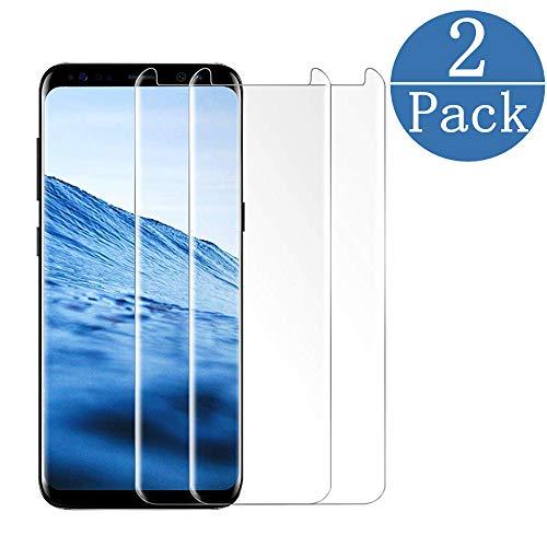 FURgenie Compatible [2 Pack] Samsung Galaxy S8 Screen Protector,FURgenie [9H Hardness][Anti-Scratch] [Anti-Fingerprint][3D Curved] [Ultra Clear] Tempered Glass Screen Protector Compatible S8 Clear by FURgenie