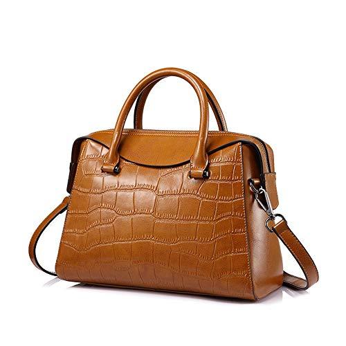 donne donna borsa mano borsa Signore geometriche a borsa marrone tote geometriche nero n5S8w50x4q