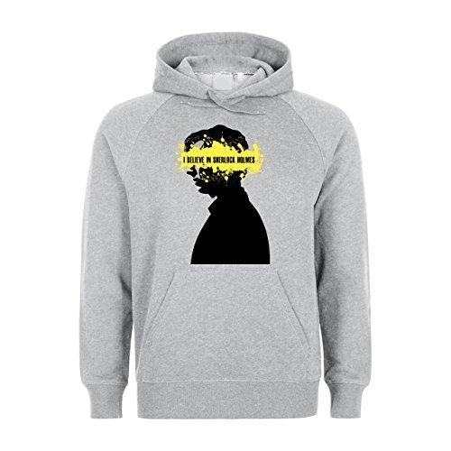 I Believe In Sherlock Holmes Yellow Had Unisex Hoodie