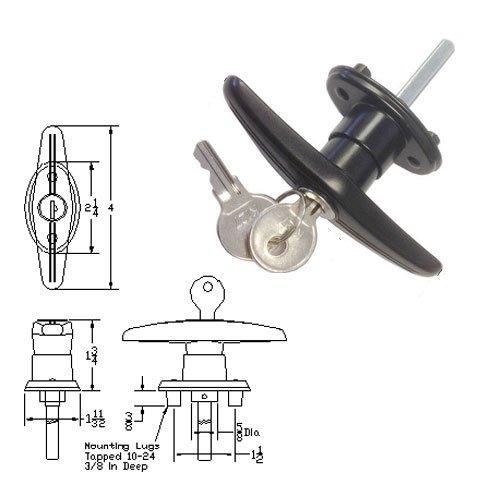 Truck Cap Parts (Truck Cap Locking T-Handle - Counter Clockwise)