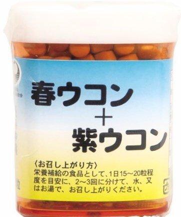 春ウコン+紫ウコン粒 120粒×20個 比嘉製茶 精油成分豊富な春ウコンと紫ウコンをブレンドしたサプリ B073C77SB6 20個  20個