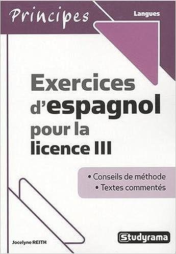 Livre gratuits en ligne Exercices d'Espagnol pour la Licence III pdf ebook