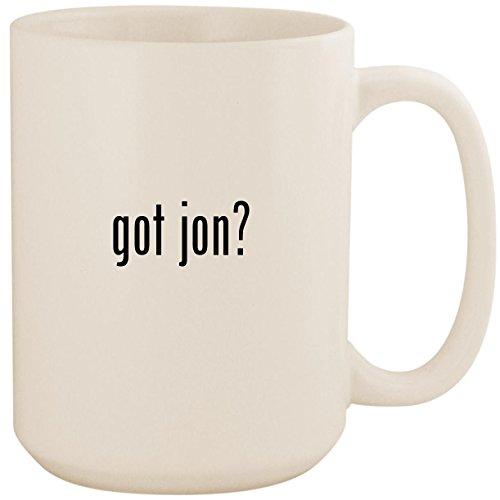 got jon? - White 15oz Ceramic Coffee Mug ()
