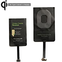 Type-C Wireless Charging Receiver Nasion.V Ultra-thin QI Wireless Charger Receiver for Google Pixel/Pixel XL Huawei P9/P9 plus, 6P, LG G5, Nexus 5X, Nokia Lumia 950XL, HTC10 and Other USB-C Phones