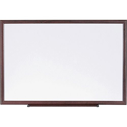 Lorell 84169 Dry-Erase Board, Wood Frame, 6'x4', Brown/White by Lorell