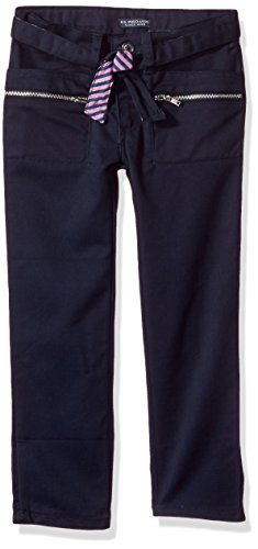 U.S. Polo Assn. Big Girls' Twill Pant (More Styles Available), Navy-IHVDH, ()