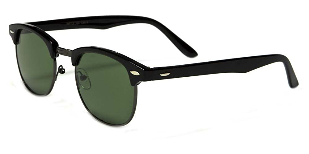 Amazon.com: Classic 60s Half Horned Rimmed Wayfarers Gafas ...