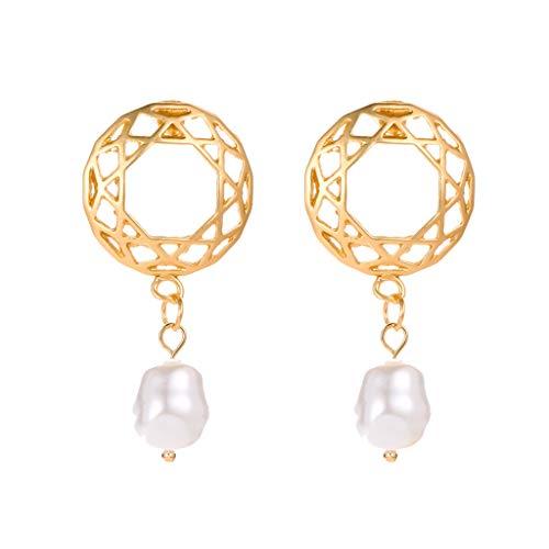 Vintage Jewelry Bohemia Irregular Pearl Earrings Pierced Earrings for Women Girl