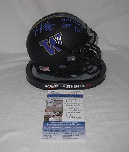 VITA VEA signed WASHINGTON HUSKIES Matte Black Mini Helmet w