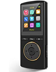 MP3 Players,MP3 Player with Bluetooth 5.0 Supports 1600 Song,1800 Minutes of Playtime,Recording Pen Bluetooth MP3 Player 2-in-1,FM Radio,Lightweight 1.25 oz for Running