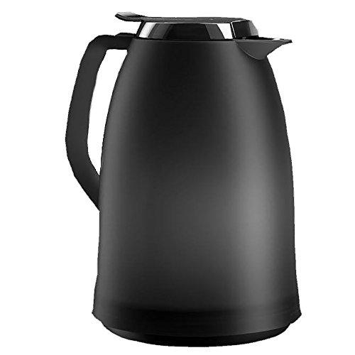 Emsa 514504 Isolierkanne, 1 Liter, Quick Tip Verschluss, 100% dicht, Anthrazit, Mambo