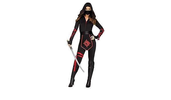 Horror-Shop Traje de Ninja Mujer del Guerrero S: Amazon.es ...