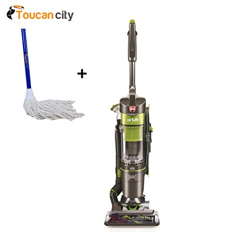 Hoover Air Lift Light Bagless Upright Vacuum and Canister Vacuum Cleaner Combo UH72540 and Toucan City String Mop