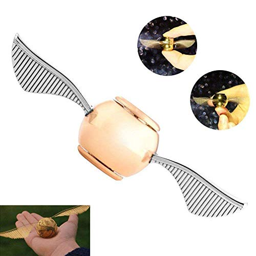 (MAYBO SPORTS Wiitin Exclusive Harry Potter Fidget Hand Spinner Toy Made by Metal, The Original Golden Snitch Used in)