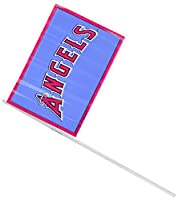 "LicensedMLB Los Angeles Angels Team Flags Decoration, Plastic, 6"" x 4"", Pack of 12"