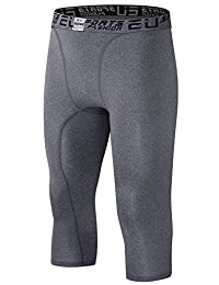 EU Men's Compression Capri Base Layer Tights 3/4 Pants