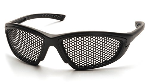 Training Glasses - Pyramex Safety Trifecta Safety Glasses with Black Frame and Punched Steel Lens