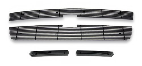 - APS Compatible with 2006 Chevy Silverado 1500 2005-2006 2500 HD 07 Classic Black Billet Grille Grill Combo C67673H