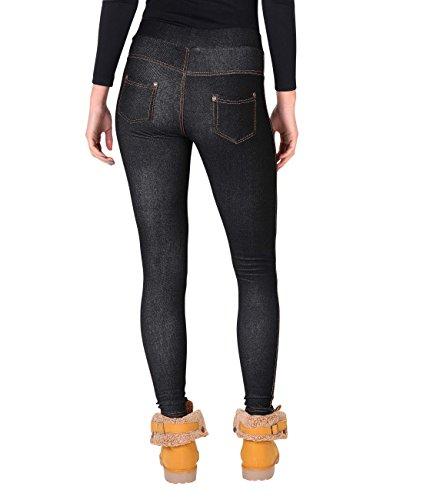 KRISP Jegging Femme Polaire Taille Haute