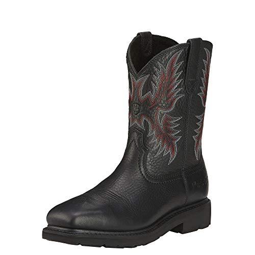 (ARIAT Men's Sierra Steel Toe Work Boot Black Size 14 D/Medium Us)