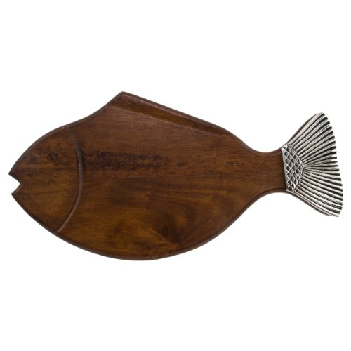 Thirstystone Wood Serving Board, Fish, Brown