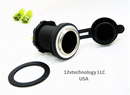 12vtechnologycjd Waterproof Heavy Duty High Current 25 Amp 12V Plug Appliance Accessory Socket Power Outlet CJD/sw