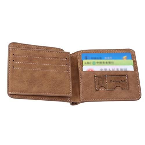 Court Portefeuille En cartes Porte monnaie Cuir Porte Durable Aofocy De gXYEnUwBxq