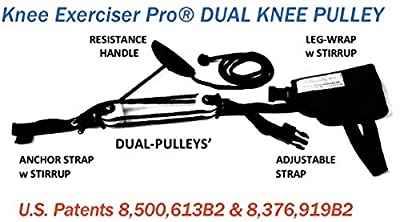 Knee Exerciser Pro-Dual Knee Pulley: Knee Replacement Therapy, TKA, ACL Rehab