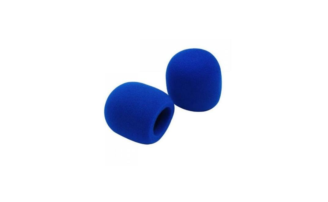 2 protectores de viento para micr/ófono de mano Blueqier color azul