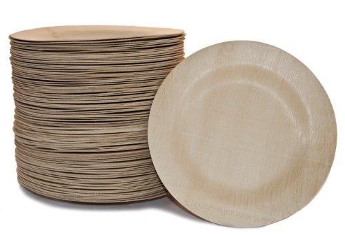 Bambu Veneerware 11'' Bamboo Round Plate, 100/CS