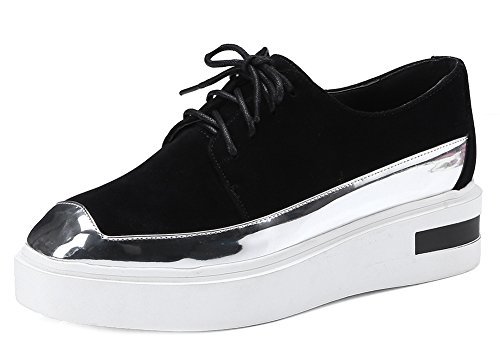 Women's Fashion Aisun Sneakers Platform Faux Black Suede dfx1gn