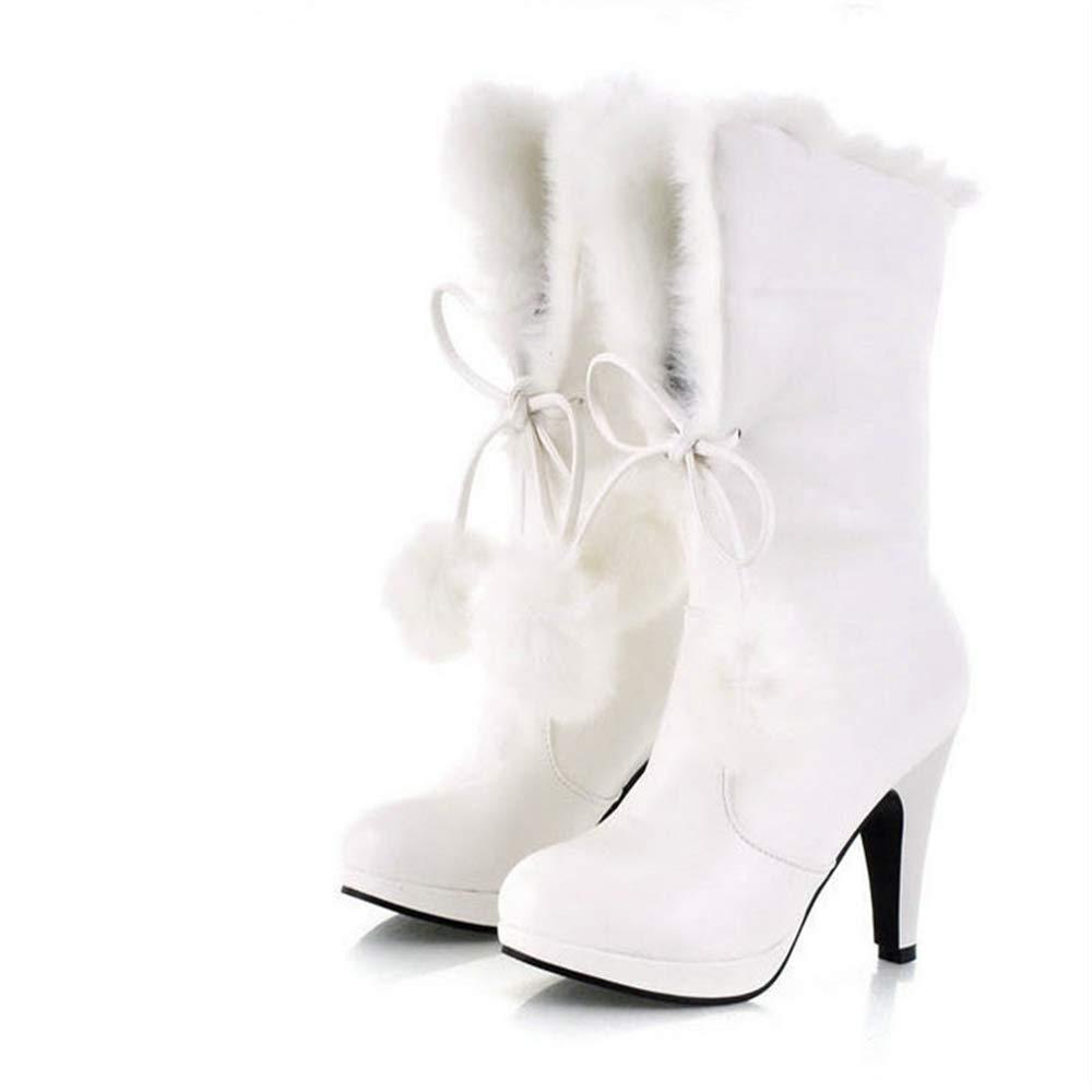 Shirloy(stivali) Corti di di di Temperamento Glamour Stivali Impermeabili con Tacco Alto Femminili con Tacco Alto e Stivali da Donna di Grandi Dimensioni 578ea3