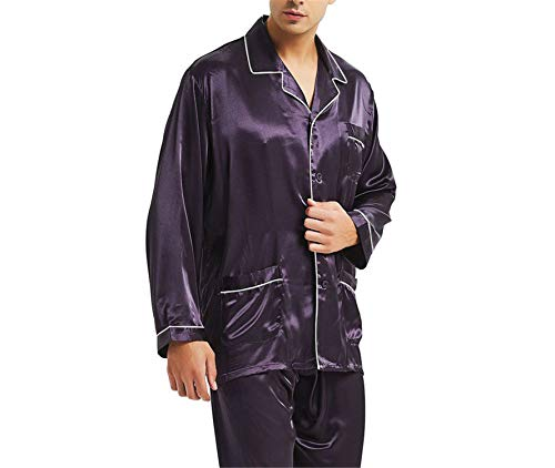 Zip Size Night Plus Set Pigiama Satin Al Auspiciousi Purple wqP7pp