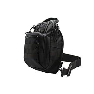 Right Left Gun Pistol Concealment Pocket Holster Tactical Sling Cross Body Bag (Black)