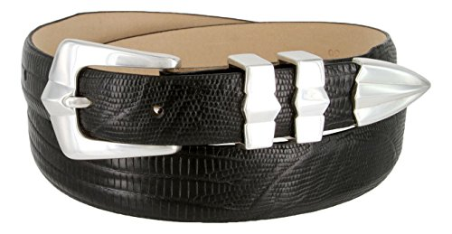 Art Deco Italian Calfskin Leather Men's Designer Dress Golf Belt 1-1/8