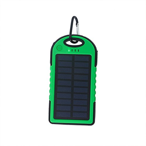 Zehui – Batería externa Power Bank con luz LED solar power bank universal 5000 mAh Cargador Solar Dual USB Portable de...