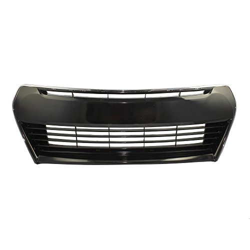Front Bumper Grille Black w/Chrome Trim Lower Center Replacement for Toyota Corolla 53102-02210