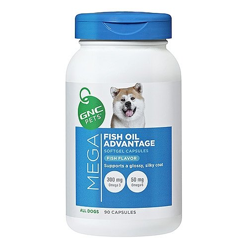 GNC Pets Mega Fish Oil Advantage for All Dogs – Fish Flavor 90 Softgel Capsules For Sale