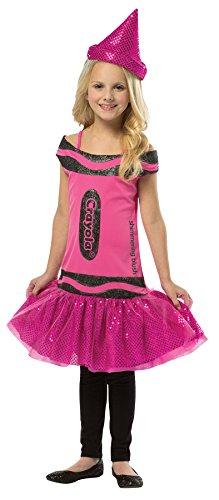 Raspberry Girl Costume (Rasta Imposta Girls' Crayola Shimmering Blush Tutu Costume Raspberry Medium)