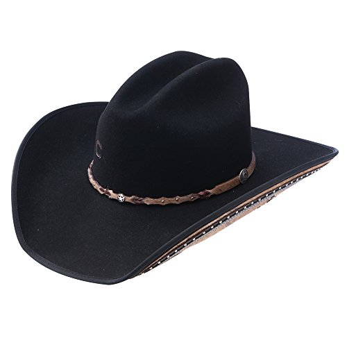 Charlie 1 Horse Rising Star Color Black Cowboy Hat (6 7/8)
