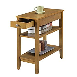 Convenience Concepts American Heritage 3-Tier End Table with Drawer, Blue