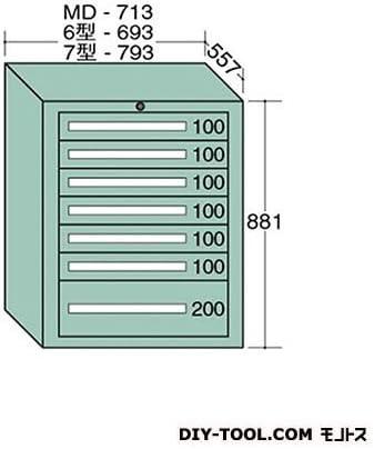 大阪製罐 ミドルキャビネット 幅×奥行×高さ:713×557×881mm MD809