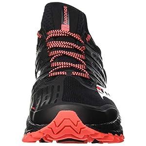 Saucony Xodus ISO 3 Negro-Rojo | Zapatillas Trail Hombre