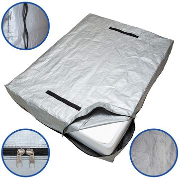 Caloona Inc Mattress Bags for Moving and Storage-Patent Pending Reusable Mattress Cover for Moving Full Size with Reinforced Handles and Heavy Duty Zipper-Extra Thick Mattress Protector Storage Bag.