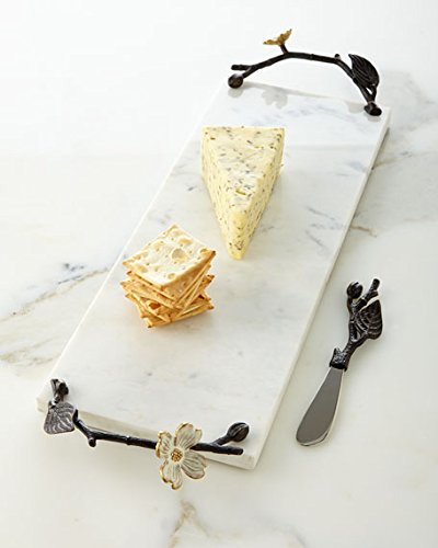 Michael Aram Small Dogwood Cheese Board/Knife … by Michael Aram